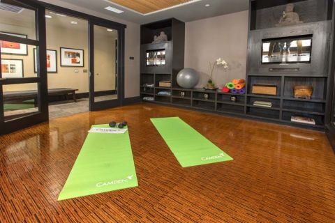 Yoga Studio at Camden Main and Jamboree Apartments in Irvine, CA
