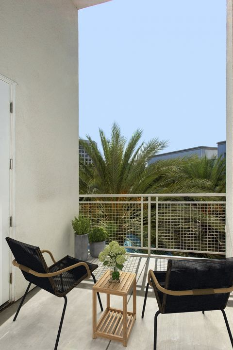 Patio at Camden Main and Jamboree Apartments in Irvine, CA