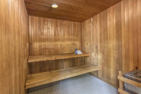 Sauna at Camden Main and Jamboree Apartments in Irvine, CA