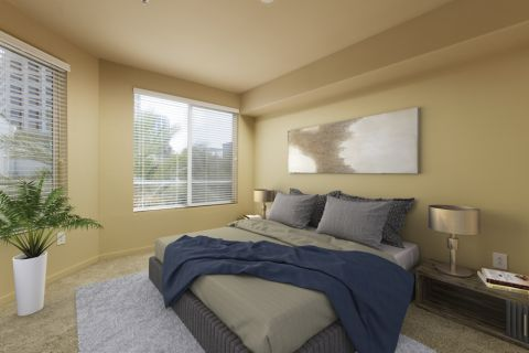 Bedroom at Camden Main and Jamboree Apartments in Irvine, CA