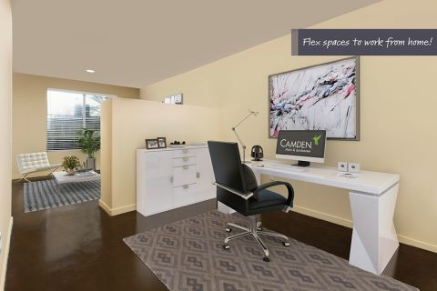 Flex space at Camden Main and Jamboree Apartments in Irvine, CA