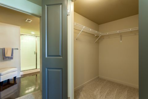 Walk-In Closet at Camden Main and Jamboree Apartments in Irvine, CA
