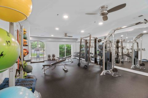 Fitness Center at Camden Manor Park Apartments in Raleigh, NC
