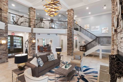 Lobby at Camden Manor Park Apartments in Raleigh, NC