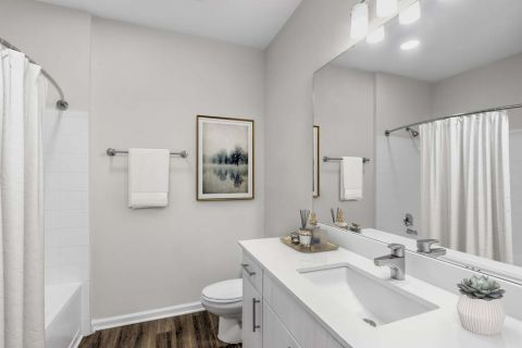 Bathroom at Camden Manor Park Apartments in Raleigh, NC