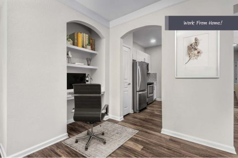 Home Office Space at Camden Manor Park Apartments in Raleigh, NC