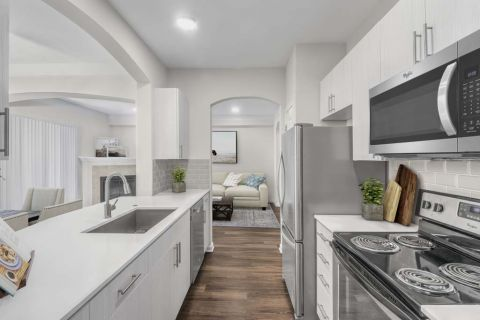 Kitchen at Camden Manor Park Apartments in Raleigh, NC