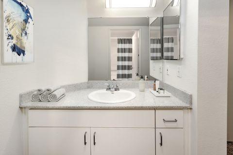 Bathroom at Camden Martinique Apartments in Costa Mesa, CA