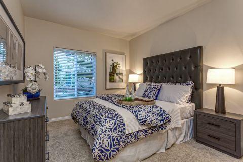 Bedroom at Camden Martinique Apartments in Costa Mesa, CA
