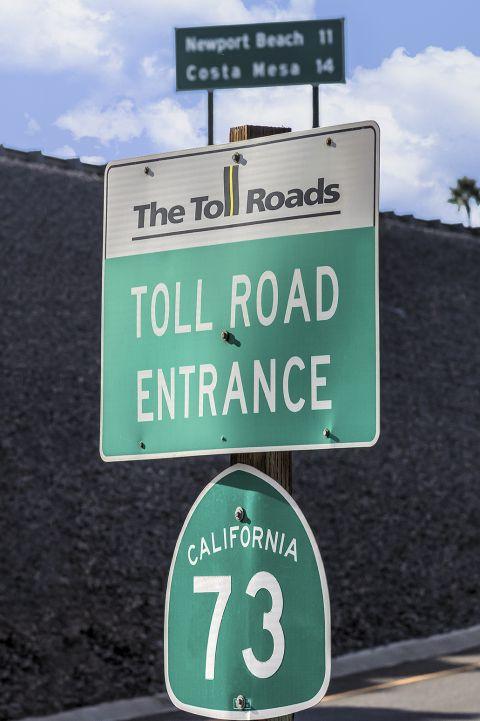 Toll Road 73 near Camden Martinique Apartments in Costa Mesa, CA