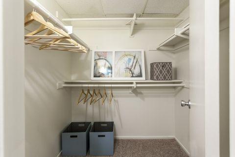 Walk-In Closet at Camden Martinique Apartments in Costa Mesa, CA