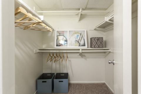 Walk-In Closet at Camden Martinique Apartments in Costa Mesa, CA
