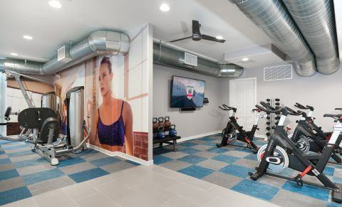 Fitness Center at Camden Martinique Apartments in Costa Mesa, CA