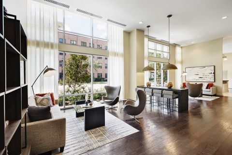 Indoor Resident Lounge at Camden McGowen Station Apartments in Houston, TX