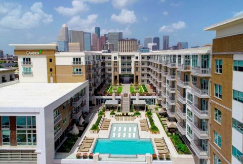 Best View of Downtown Houston at Camden McGowen Station Apartments in Houston, TX