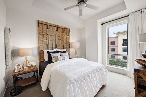 Model Bedroom at Camden McGowen Station Apartments in Houston, TX