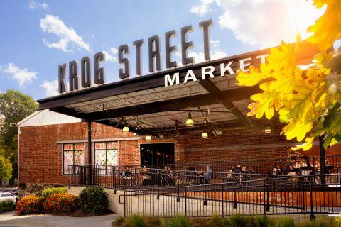 Dining at Krog Street Market near Camden Midtown Atlanta Apartments in Atlanta, GA