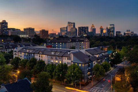 Exterior at Twilight at Camden Midtown Atlanta Apartments in Atlanta, GA