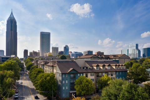 Exterior and City Views at Camden Midtown Atlanta Apartments in Atlanta, GA