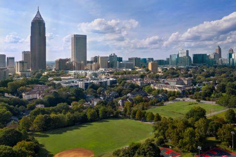 Nearby Midtown Central Park at Camden Midtown Atlanta Apartments in Atlanta, GA
