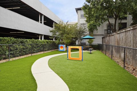 Pet Friendly Community with Private Dog Park at Camden Midtown Houston Apartments in Houston, TX