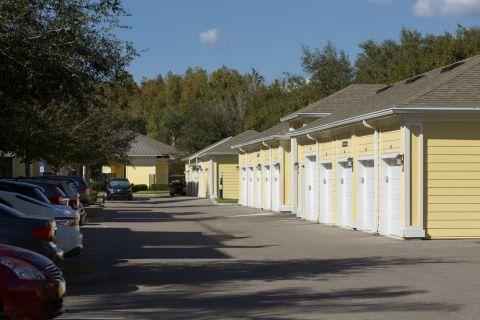 Garage at Camden Montague Apartments in Tampa, FL