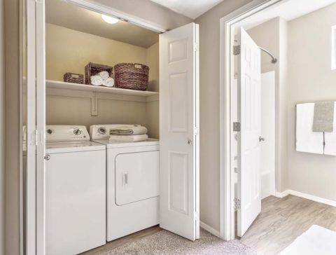Full-Size Washer and Dryer Inside Each Home at Camden Montierra Apartments in Scottsdale, AZ