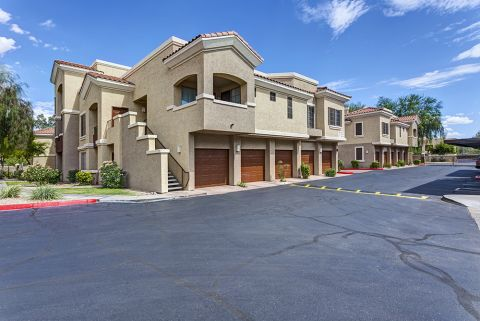 Garages and Patios at Camden Montierra Apartments in Scottsdale, AZ