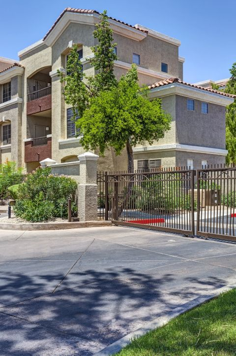 Gated Entry at Camden Montierra Apartments in Scottsdale, AZ