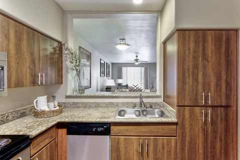 Kitchen with Stainless Steel Appliances at Camden Montierra Apartments in Scottsdale, AZ