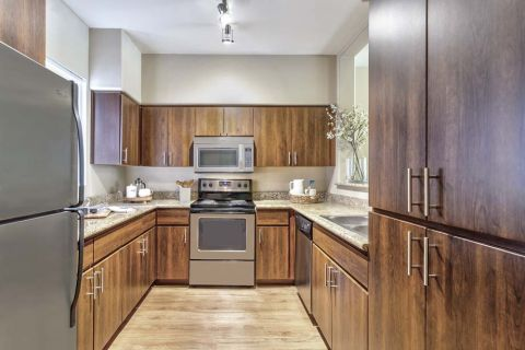 Kitchen with Plenty of Storage and Kitchen Pantry at Camden Montierra Apartments in Scottsdale, AZ