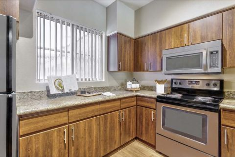 Kitchen with Granite Countertops at Camden Montierra Apartments in Scottsdale, AZ