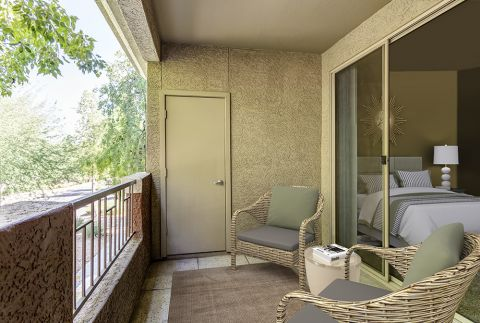 Private Balcony with Bedroom Entry at Camden Montierra Apartments in Scottsdale, AZ