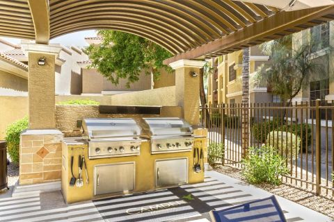 Covered BBQ Grilling Station at Camden Montierra Apartments in Scottsdale, AZ