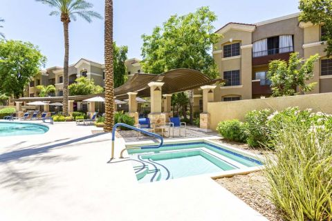 Swimming Pool and Hot Tub at Camden Montierra Apartments in Scottsdale, AZ
