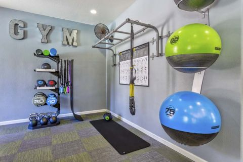 TRX Equipment in Fitness Center at Camden Montierra Apartments in Scottsdale, AZ