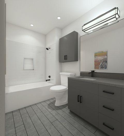 Scheme two bathroom at Camden Noda Apartments in Charlotte, NC