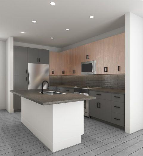 Scheme two Kitchen at Camden Noda Apartments in Charlotte, NC