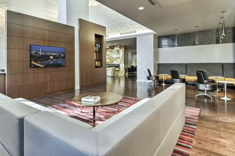 Resident Work Lounge at Camden NoMa Apartments in Washington, DC