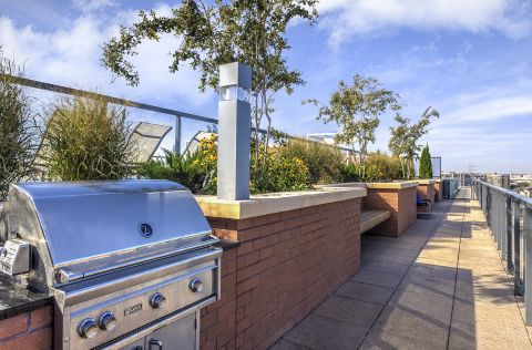 Rooftop Grilling Stations at Camden NoMa Apartments in Washington, DC