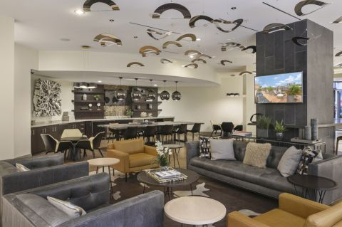 Resident Lounge at Camden NoMa Apartments in Washington, DC