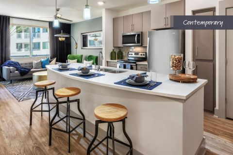 Contemporary Kitchen at Camden North End Apartments in Phoenix, AZ