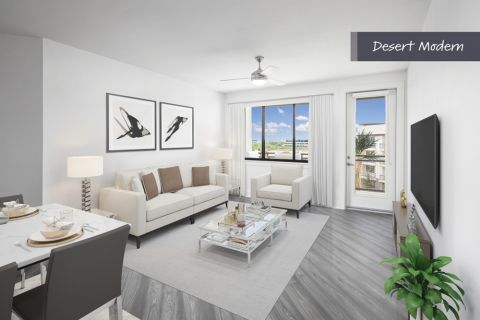Desert Modern Living Room at Camden North End Apartments in Phoenix, AZ