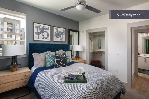 Contemporary Bedroom at Camden North End Apartments in Phoenix, AZ