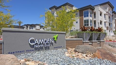 Monument Sign at Camden North End Apartments in Phoenix, AZ