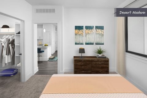 Desert Modern Bedroom at Camden North End Apartments in Phoenix, AZ