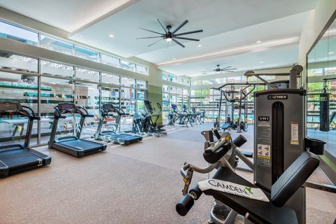 24-hour Fitness Center with Cardio Equipment at Camden North End Apartments in Phoenix, AZ