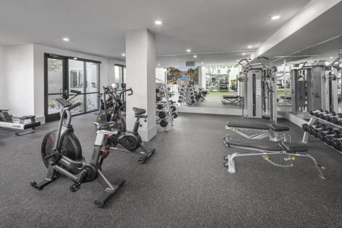 24-hour Fitness Center with Spin Bikes at Camden North End Apartments in Phoenix, AZ