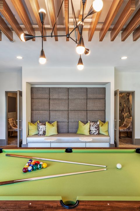 Resident Clubhouse with Billiards at Camden North End Apartments in Phoenix, AZ