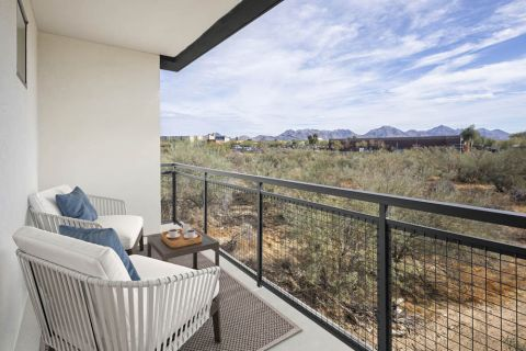 Desert Modern Townhome Balcony at Camden North End Apartments in Phoenix, AZ